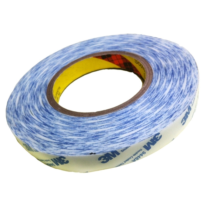 Băng keo 2 mặt 3M™ Double Coated Tissue Tape 9448A 15mmx50m Trắng phối xanh