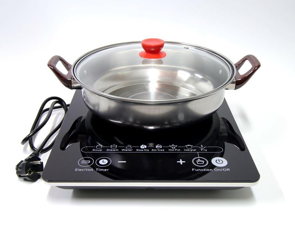 BẾP TỪ HITACHI KÈM CHẢO LẨU INOX  ( Loại bếp đơn )