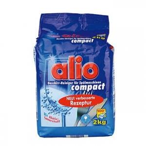 Alio-Bột rửa cho máy rửa bát, chén. Loại 2Kg, nhập khẩu CHLB- ĐỨC