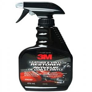 Chai xịt chăm sóc da, nội thất ô tô – 3M Leather & Vinyl Restorer PN39040 473ml (Đen)