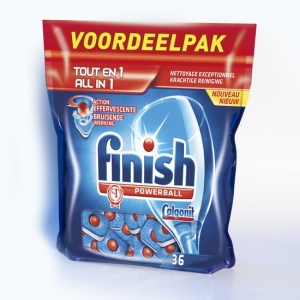 Viên rửa bát Finish VOORDEELPAK Tout En 1 All in 1