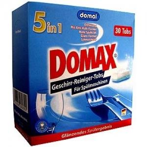 Hộp viên rửa Domax – 5 in 1, 1 HỘP 30 VIÊN dùng cho máy rửa bát