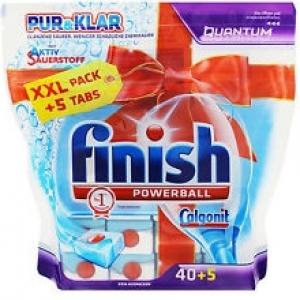 Viên rửa chén bát Finish PUR and KLAR mới loại túi 45 viên được Nhập khẩu từ CHLB Đức