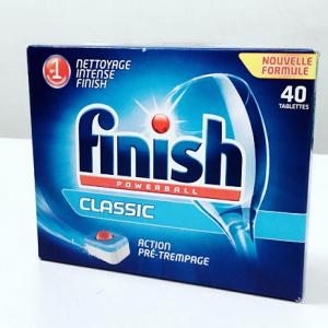 Viên rửa chén bát FINISH POWERBALL CLASSIC loại hộp 40 viên