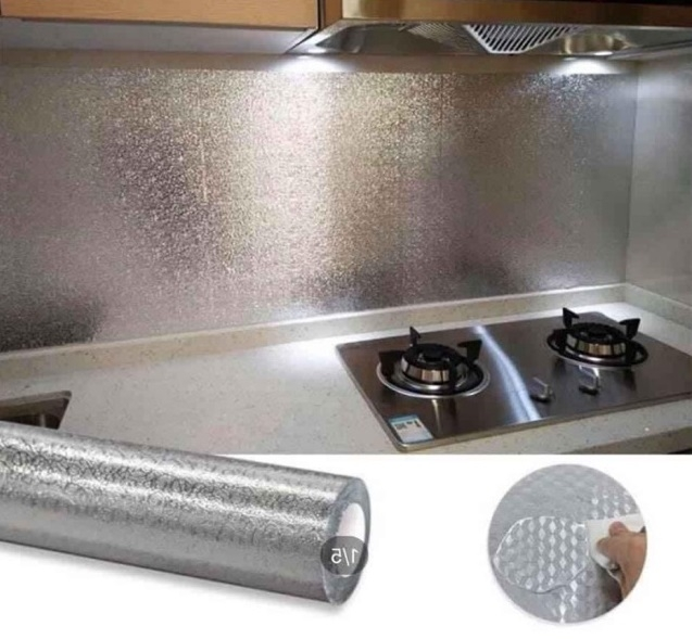 Set 2 cuộn giấy bạc dán bếp cách nhiệt chống thấm