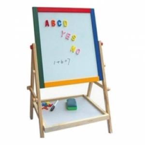 Bảng gỗ giáo dục 2 mặt thông minh cho bé học và sáng tạo.. có khay đỡ