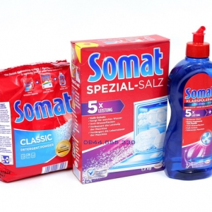 Combo Bộ 3 sản phẩm Somat (Bột rửa + Muối rửa + Nước làm bóng)