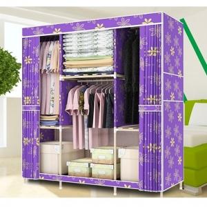 Tủ vải khung gỗ 3 buồng cao cấp