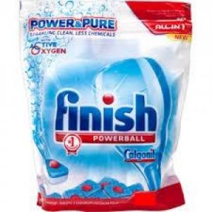 Viên rửa chén bát Finish PUR & KLAR loại túi 24 viên Nhập khẩu CHLB Đức