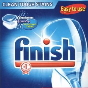 Viên rửa chén bát Finish Easy to use hộp 180 viên dạng tiết kiệm 5g/1 viên